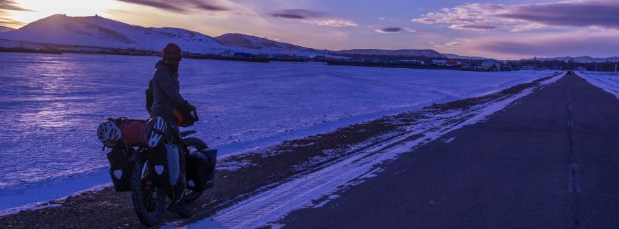 Mongolia en inverno en bicicleta
